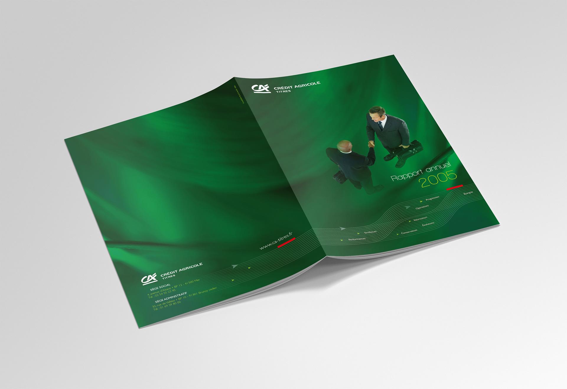 Rapport annuel Crédit Agricole Titres - Cmondada Design