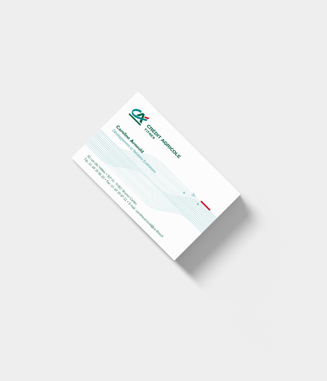 Carte de visite Crédit Agricole Titres - Cmondada Design