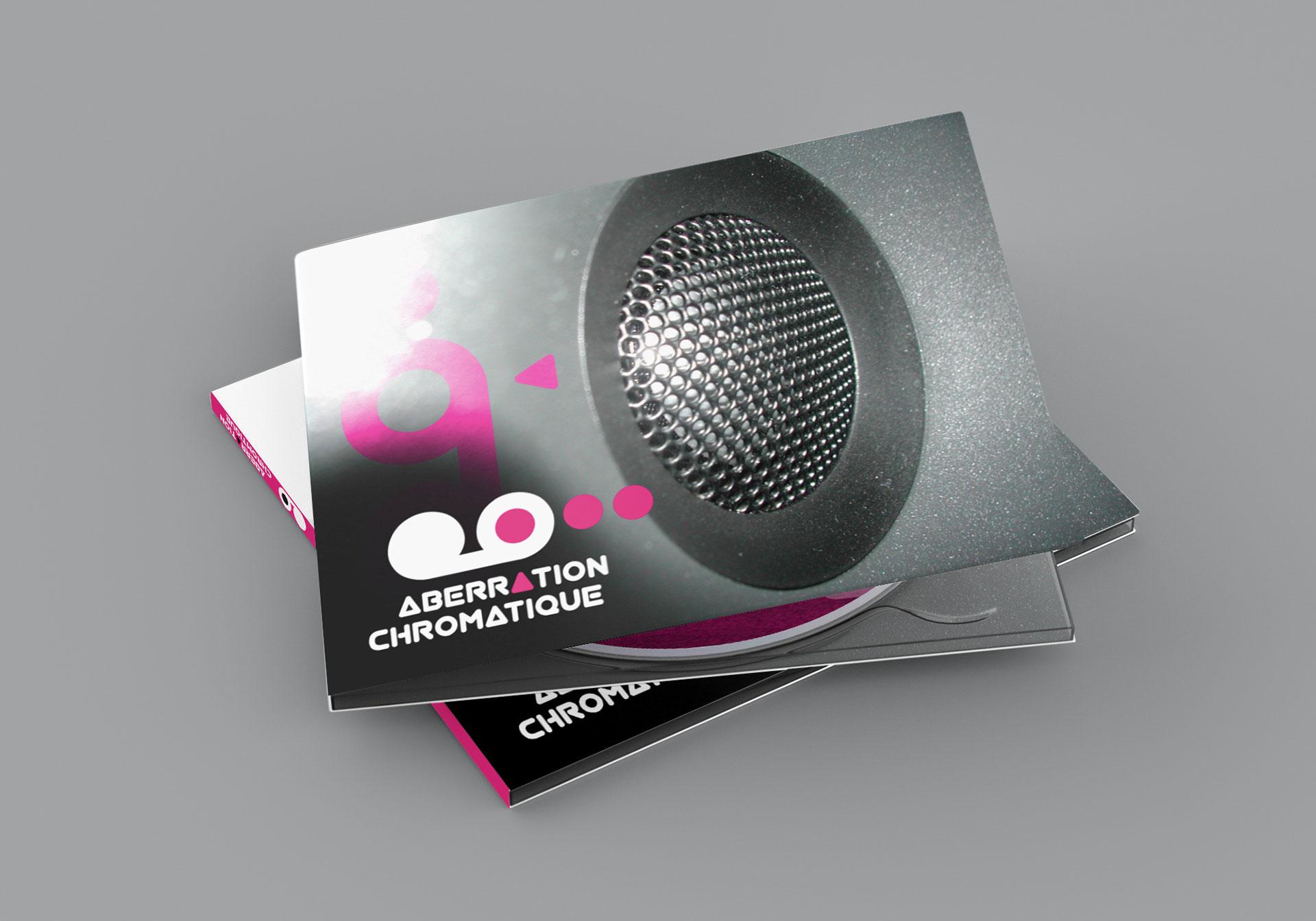 Blister CD fermé Aberration Chromatique-Cmondada Design
