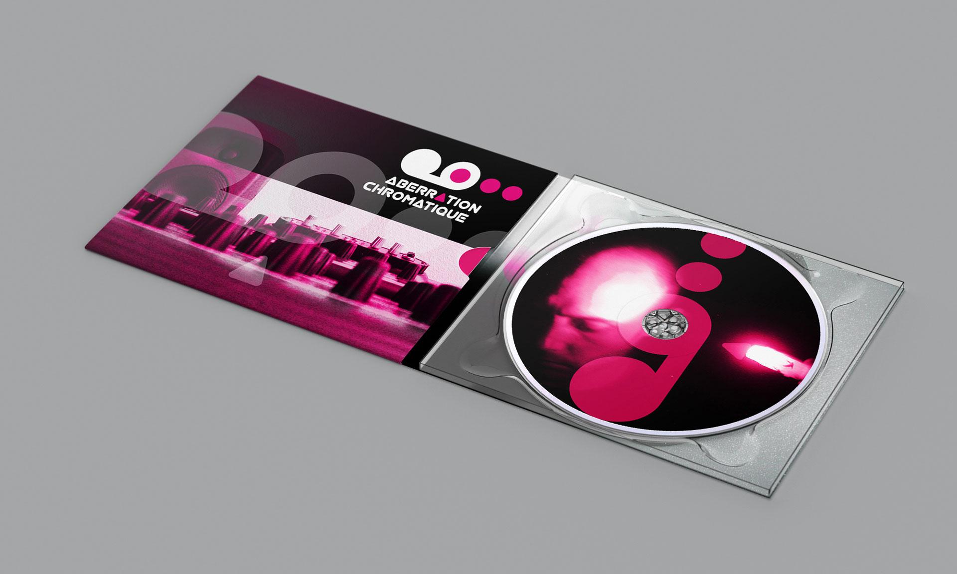 Blister CD ouvert Aberration Chromatique-Cmondada Design