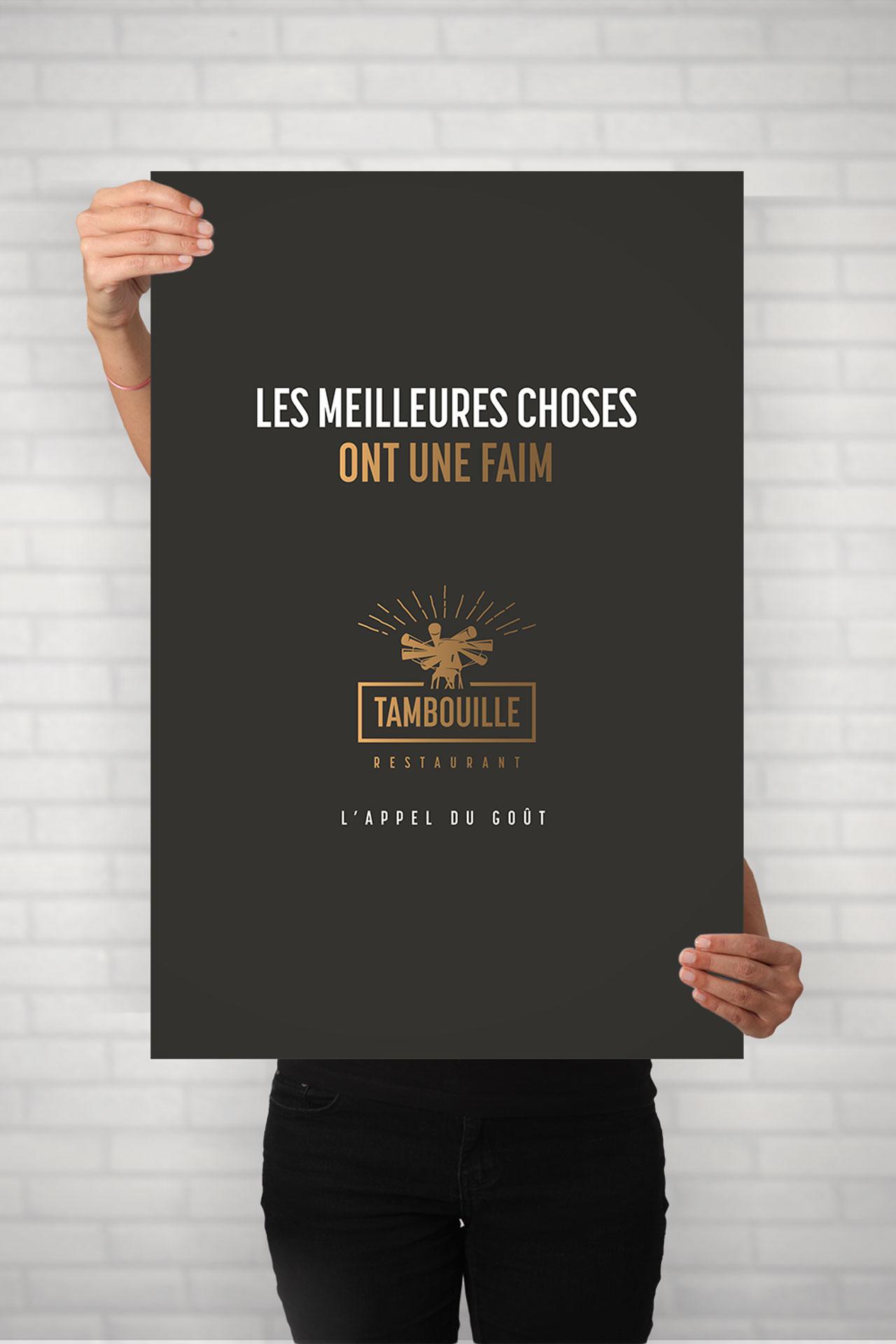 Affiche1-Tambouille restaurant-Cmondada Design