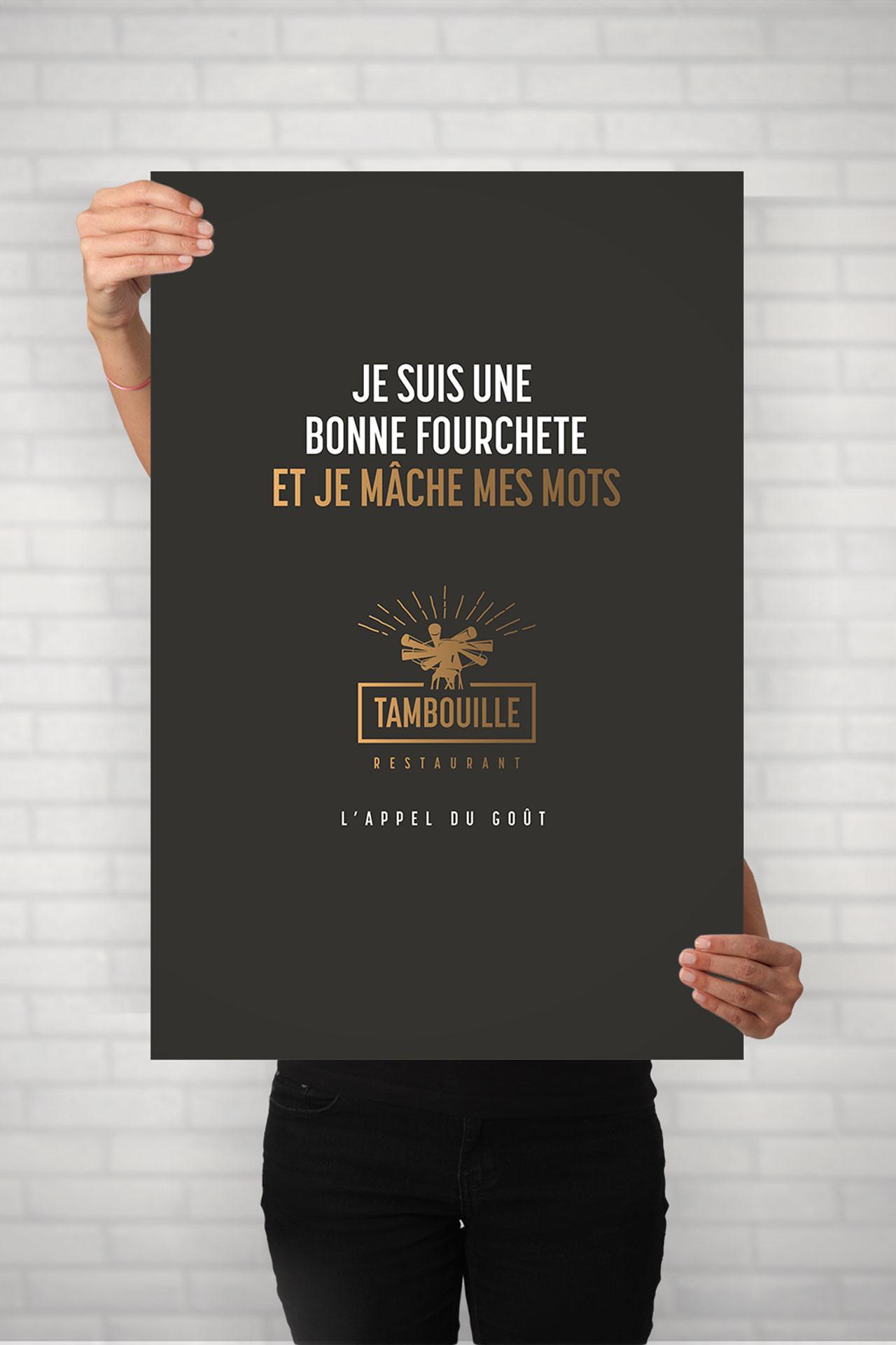 Affiche3-Tambouille restaurant-Cmondada Design