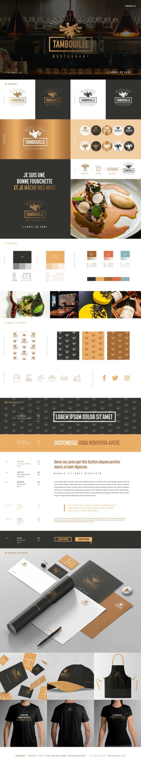 Brand-Board-Tambouille restaurant-Cmondada Design