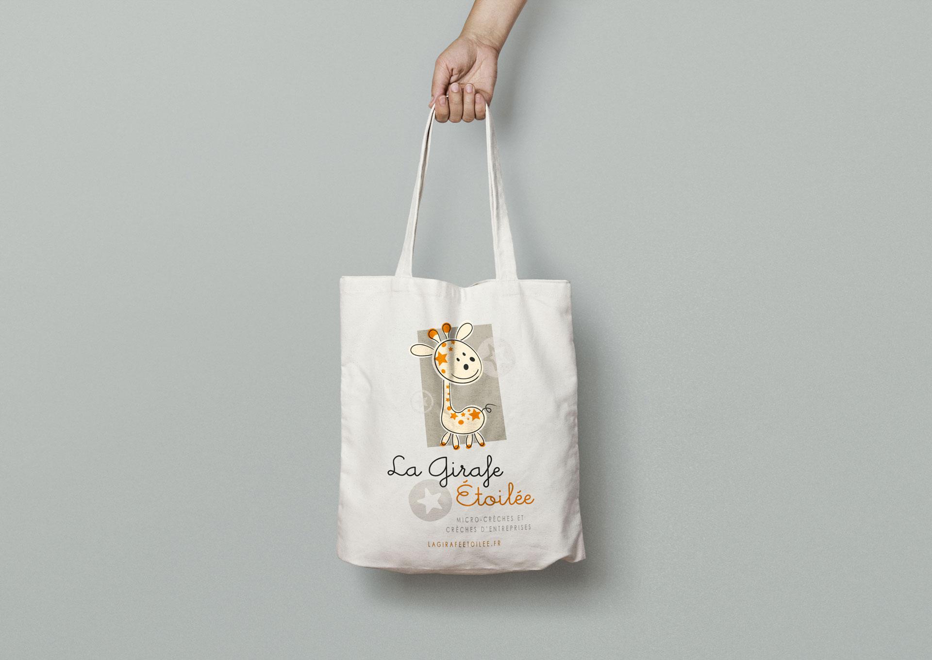 Totebag La Girafe Étoilée - Cmondada Design