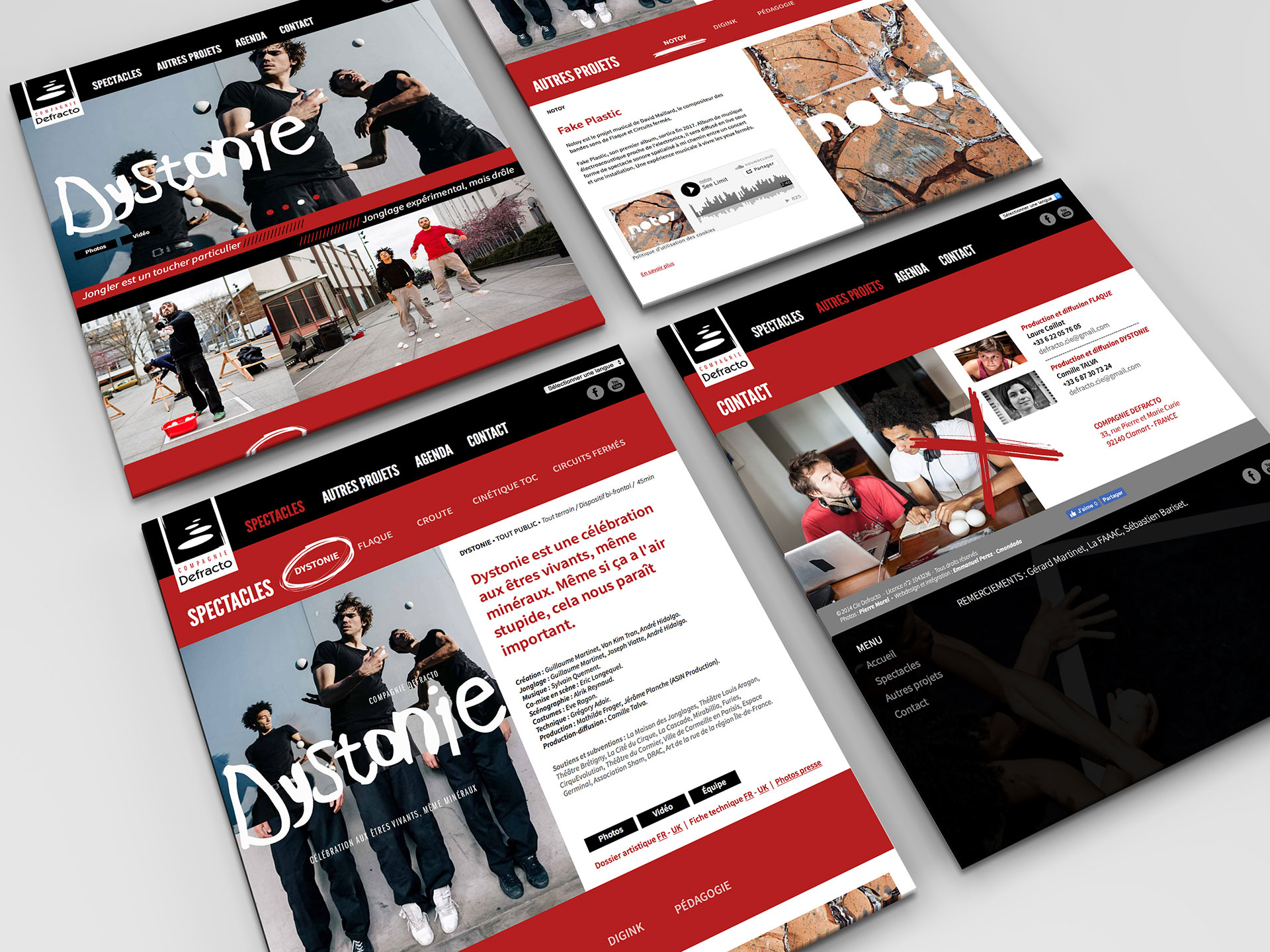 Site internet Defracto-Cmondada Design