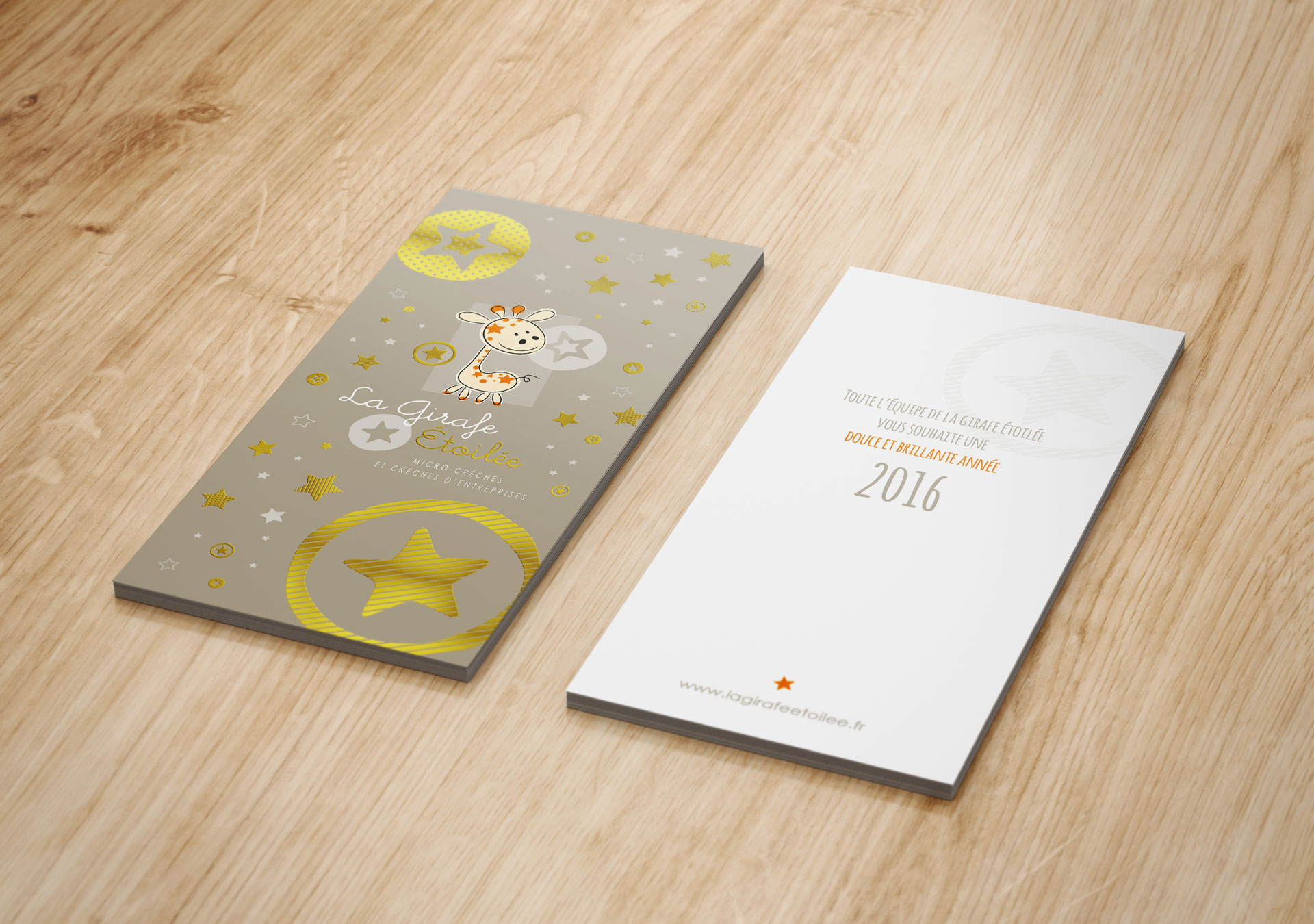 Carte de vœux La Girafe Étoilée - Cmondada Design