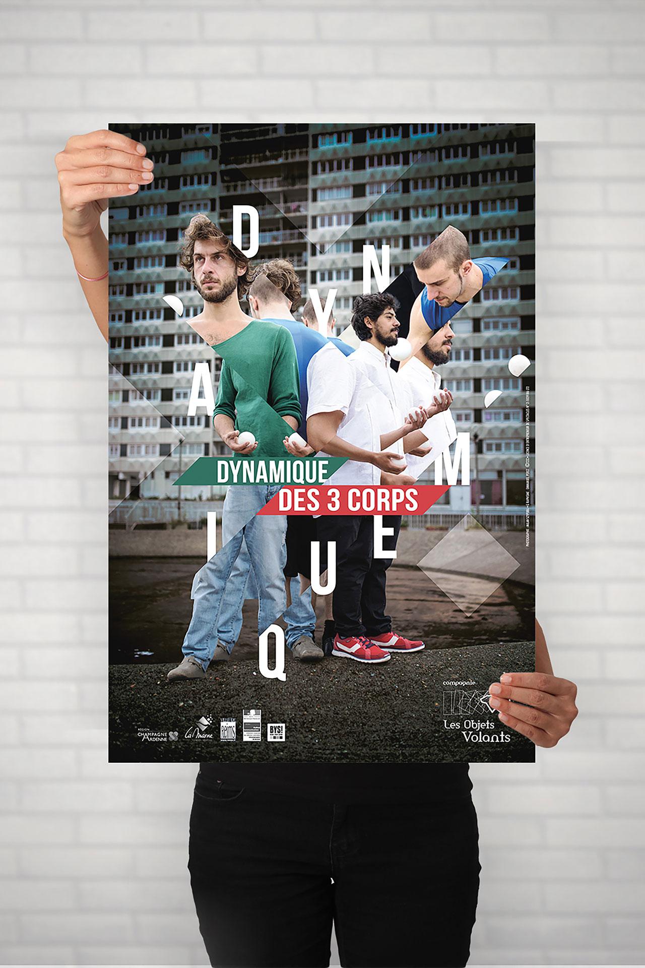 Affiche Dynamique des trois corps-Cmondada Design