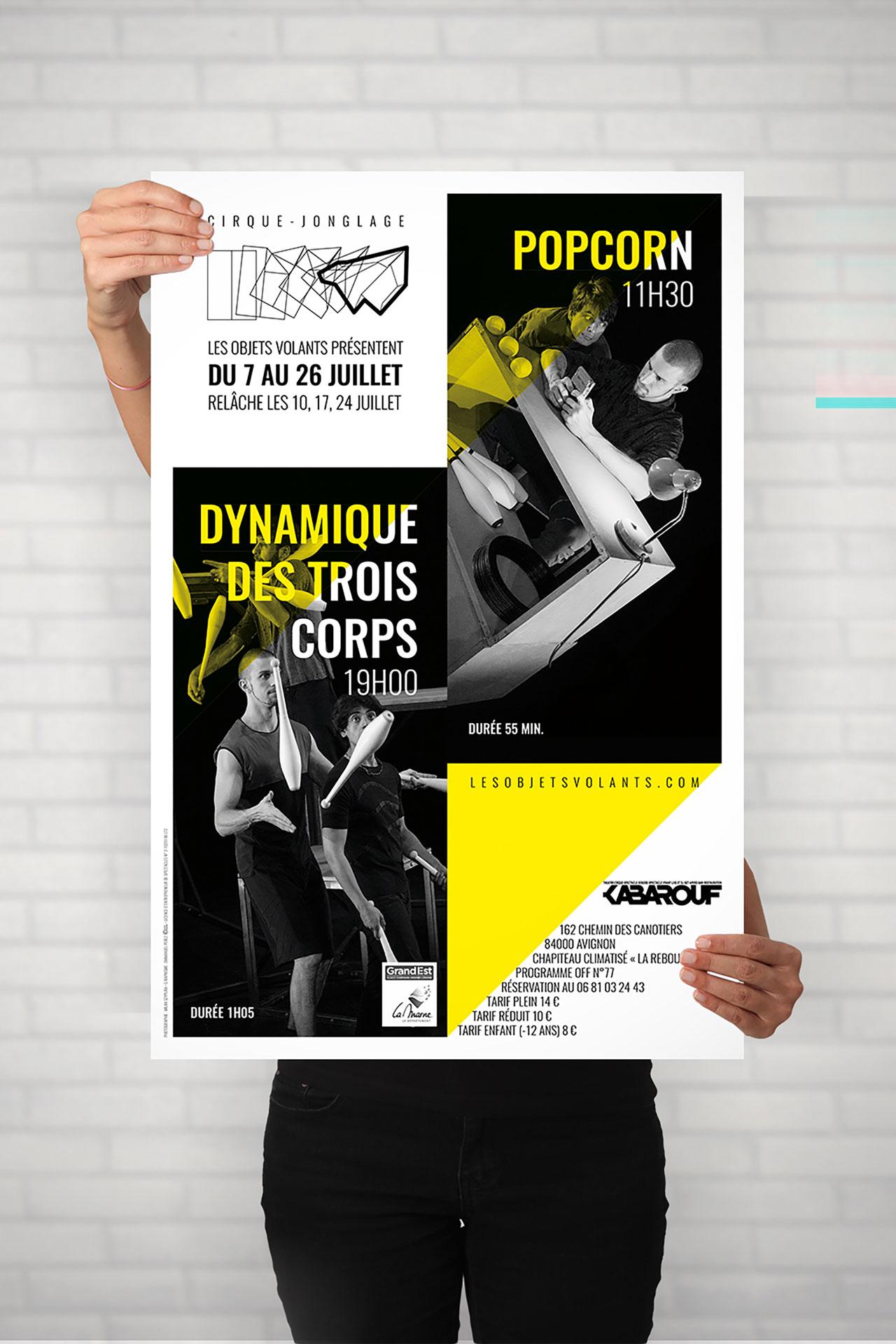 Affiche 2 spectacles-Cmondada Design