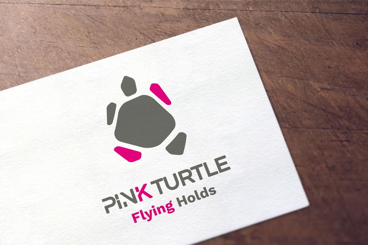 Logotype Pink Turtle-Cmondada Design