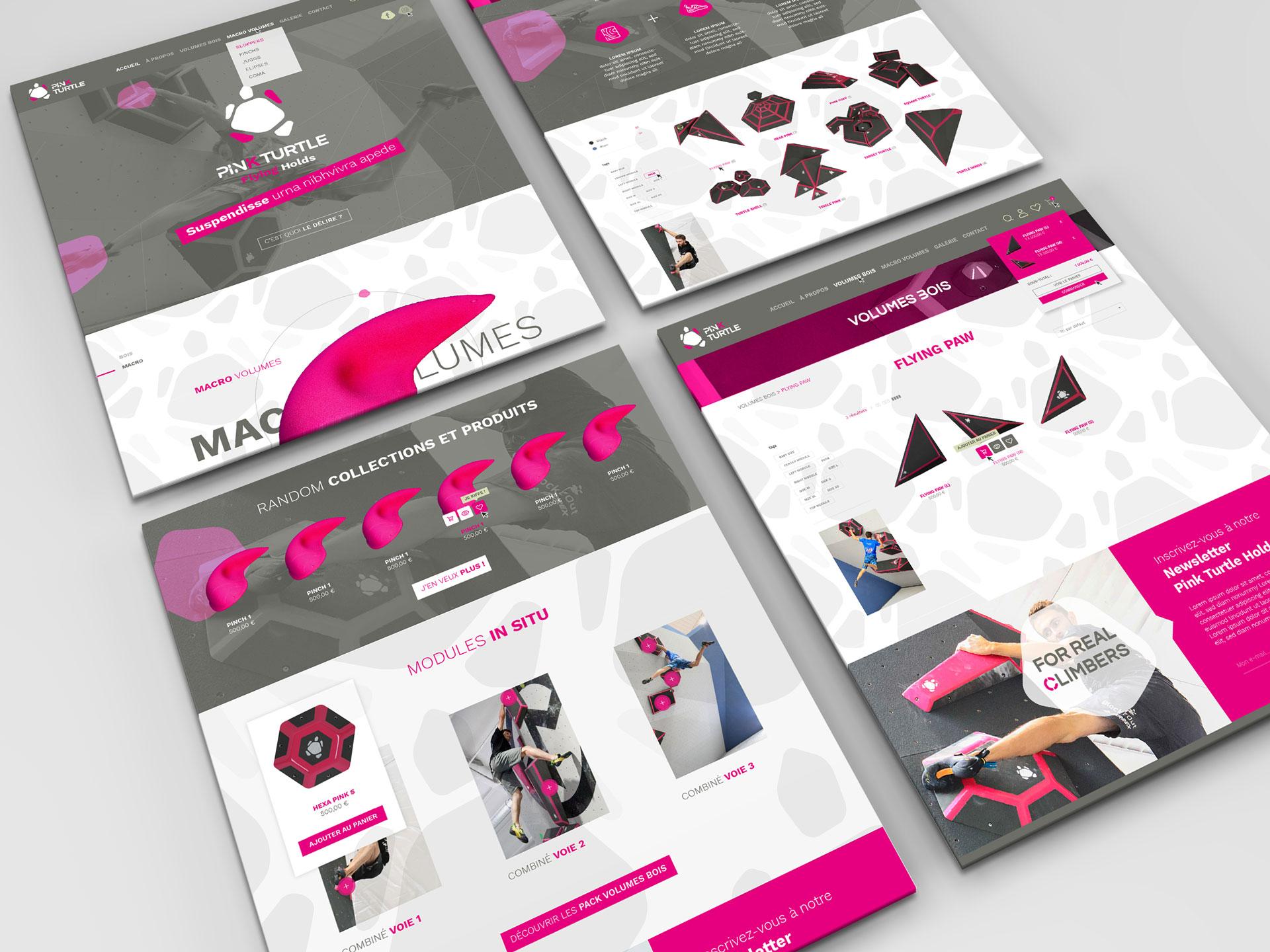 UI site Pink Turtle-Cmondada Design