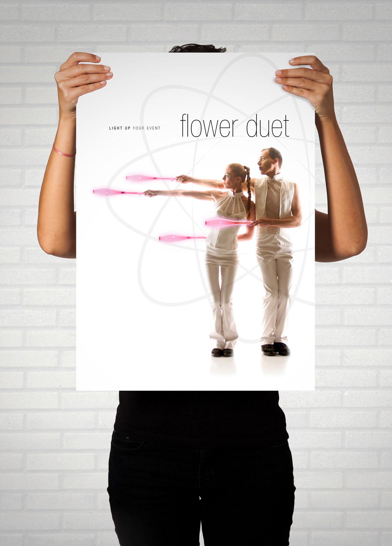 Affiche Flower Duet-Cmondada Design