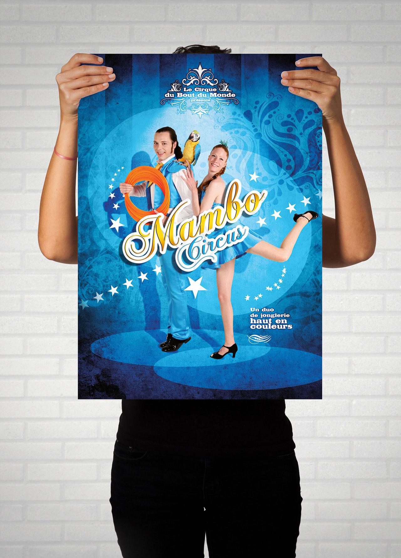 Affiche Mambo Circus-Cmondada Design