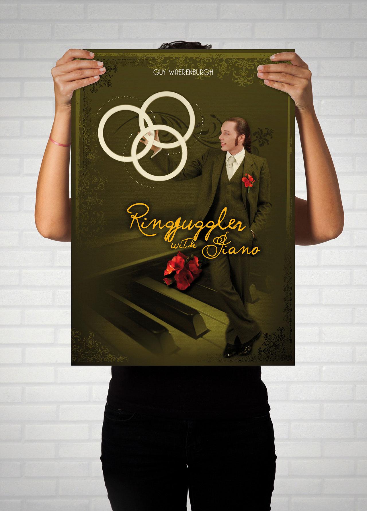 Affiche Ring juggler with Piano-Cmondada Design
