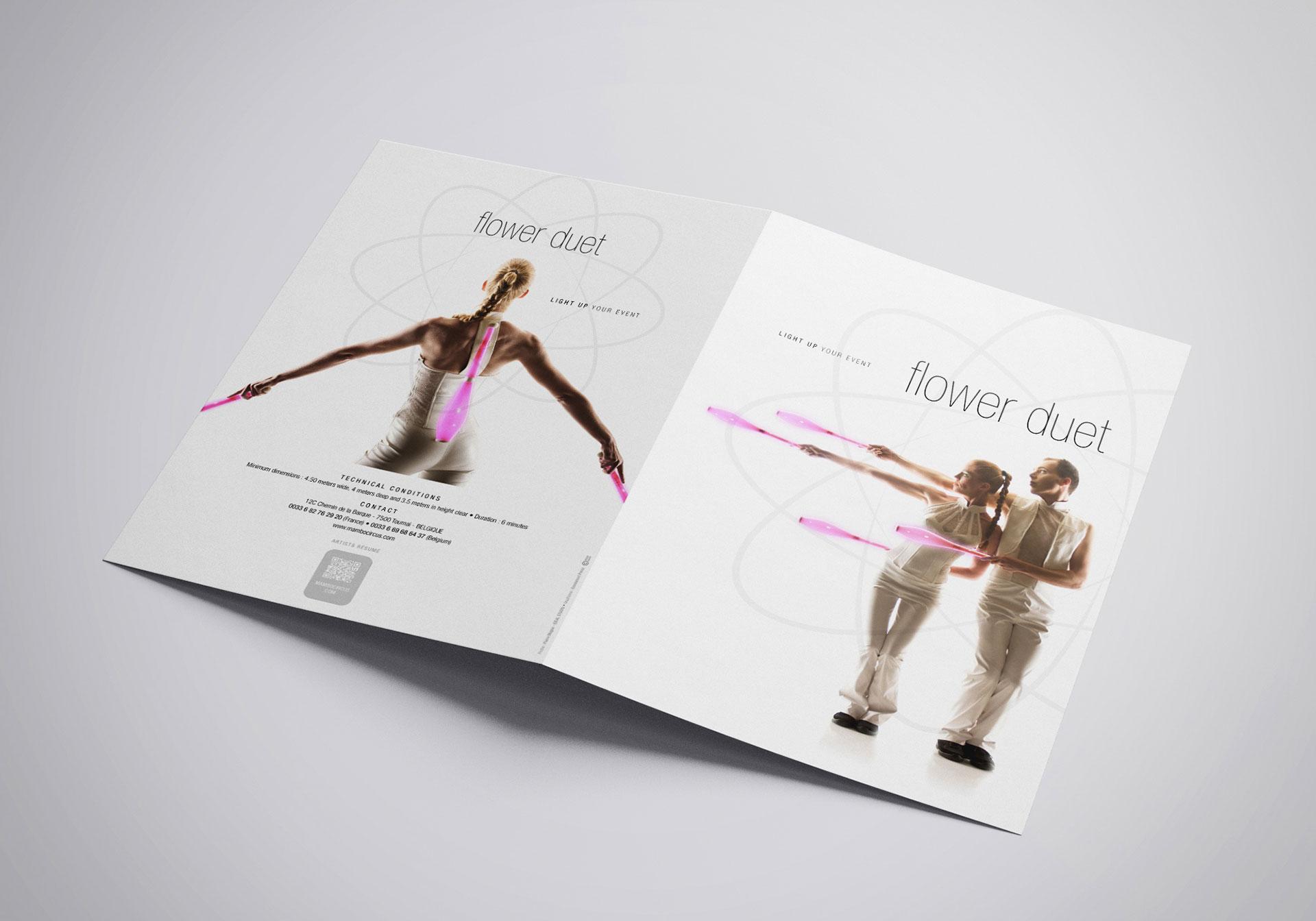 Plaquette couverture Flower Duet-Cmondada Design