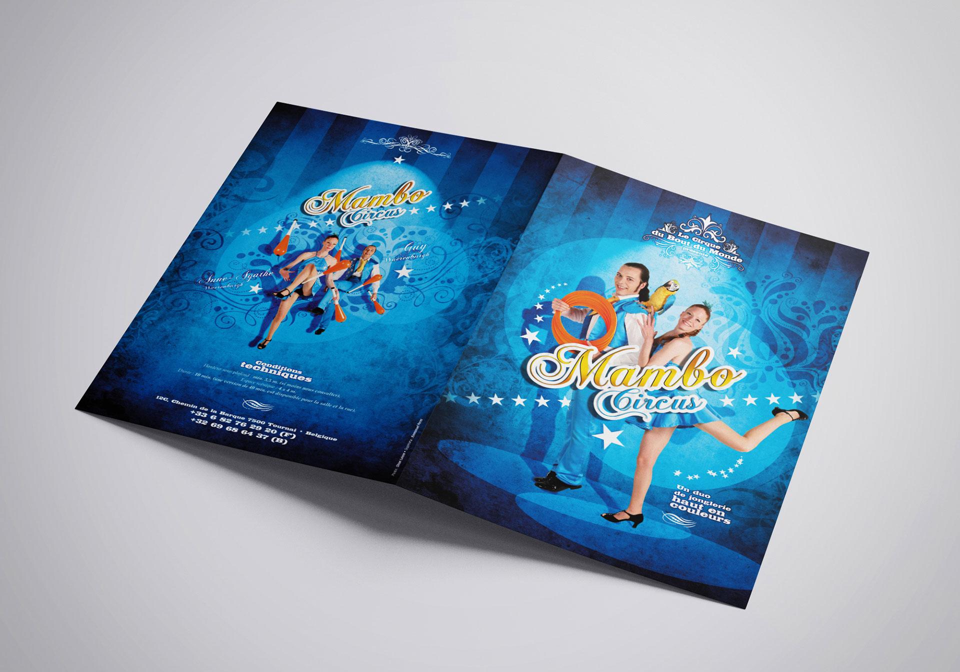 Plaquette couverture Mambo Circus-Cmondada Design