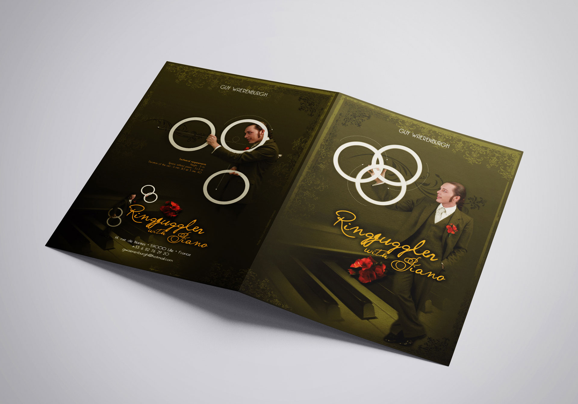 Plaquette couverture Ring juggler with piano-Cmondada Design