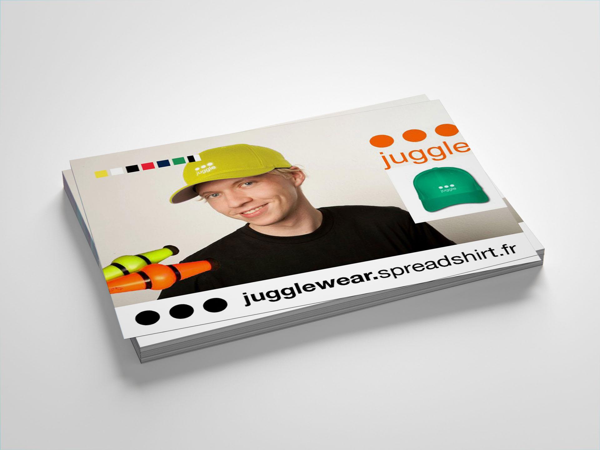 Carte postale juggle - Cmondada Design