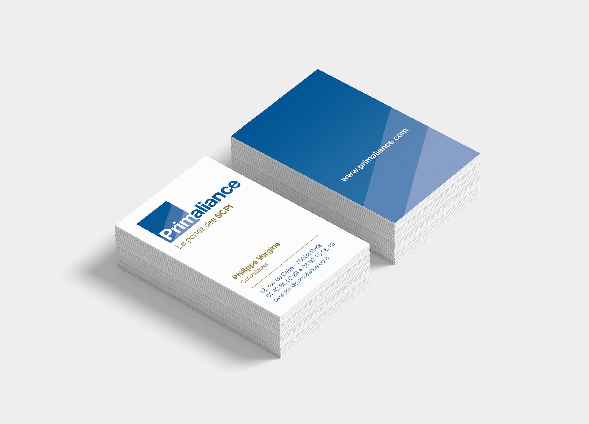 Carte de visite Primaliance-Cmondada design