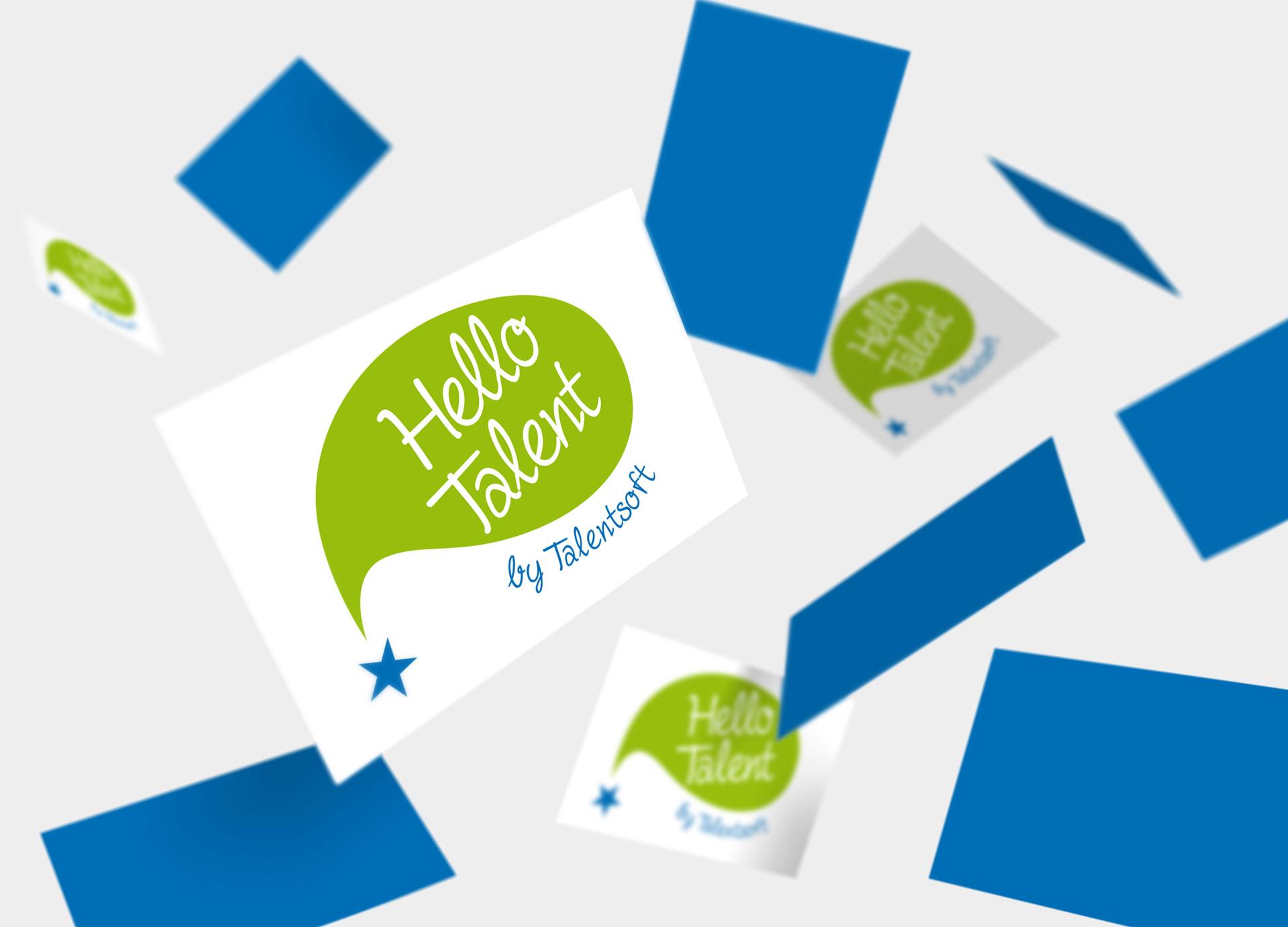Logotype Hello Talent Talentsoft - Cmondada-design