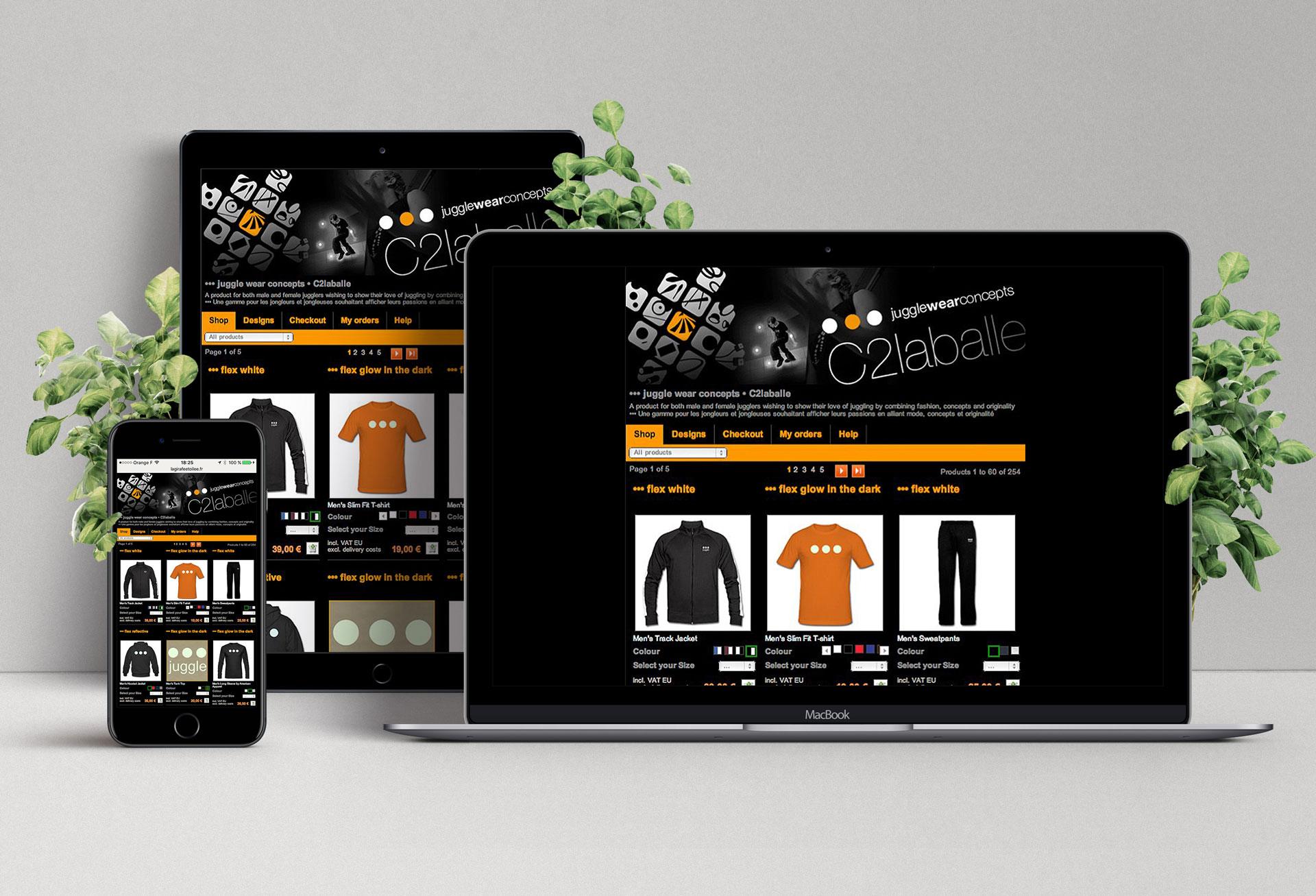 Site internet juggle - Cmondada Design