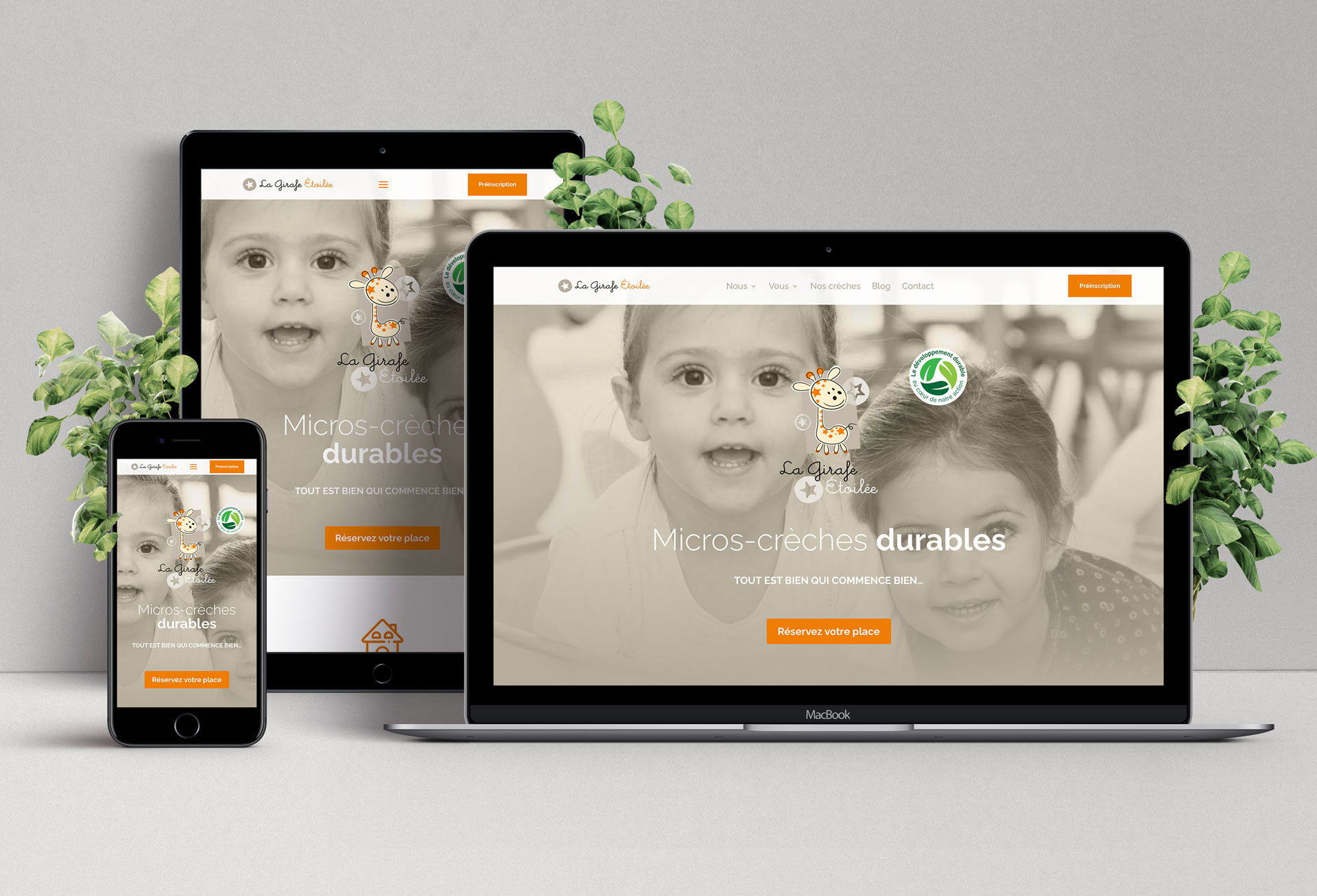 Site internet full responsive La Girafe Étoilée - Cmondada Design