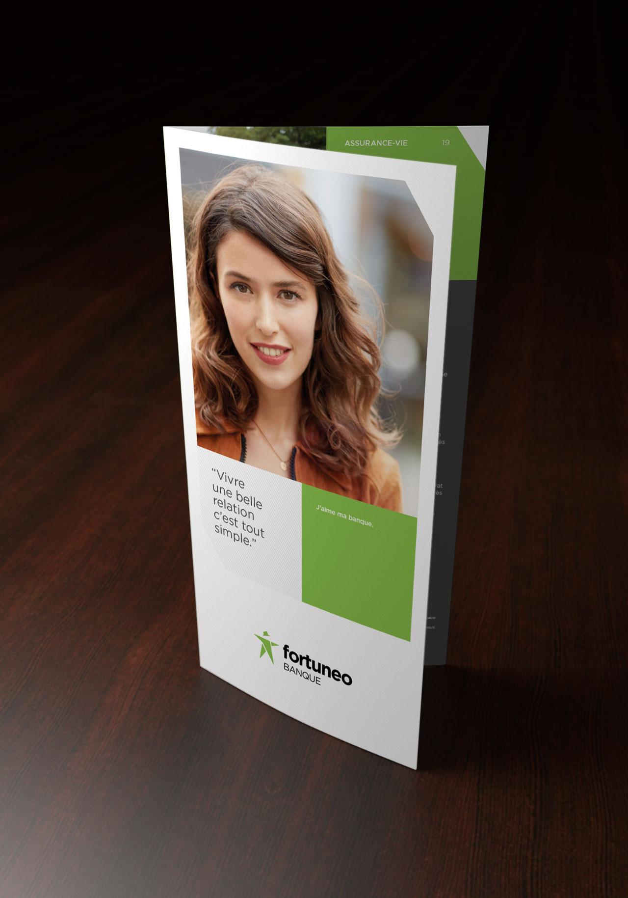 Leaflet Fortuneo couverture - Cmondada Design