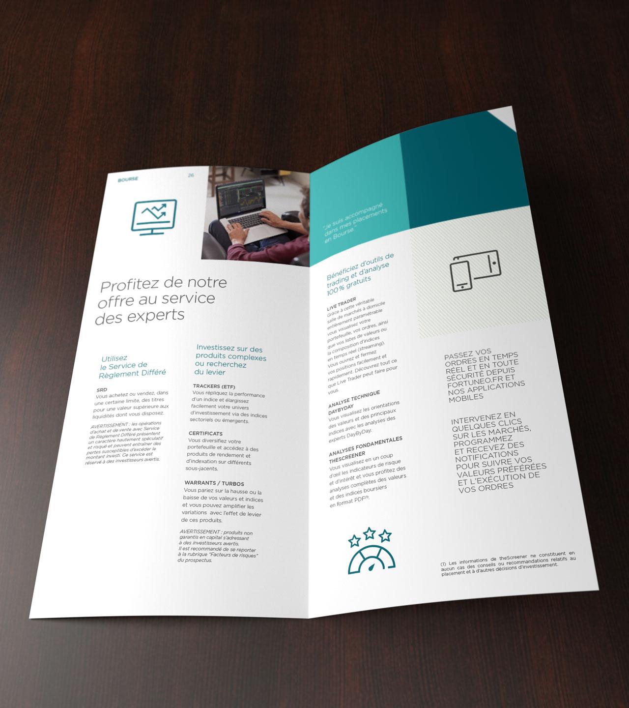 Leaflet Fortuneo intérieur - Cmondada Design
