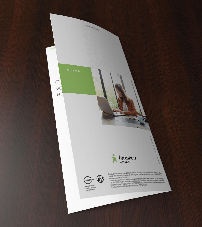Leaflet Fortuneo dernière de couverture - Cmondada Design