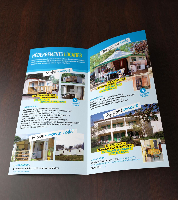 Leaflet intérieur - GCU - Cmondada Design