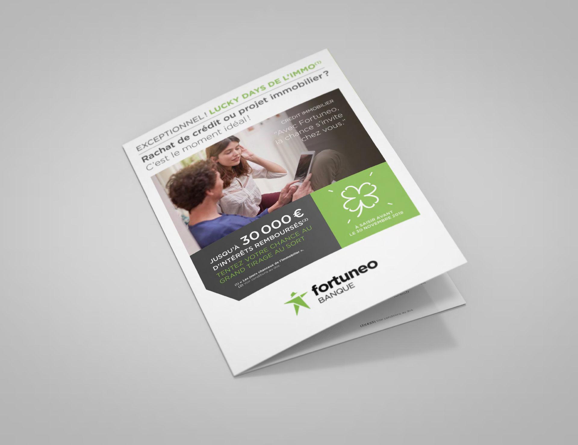 Marketing direct Crédit immobilier Fortuneo - couverture - Cmondada Design