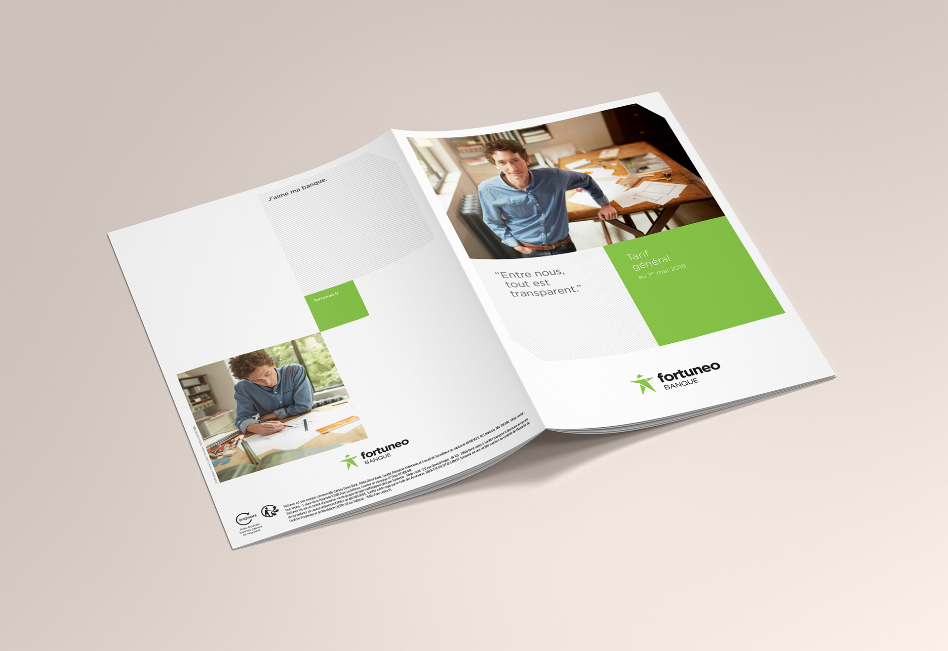 Brochure tarifaire Fortuneo - couverture - Cmondada Design